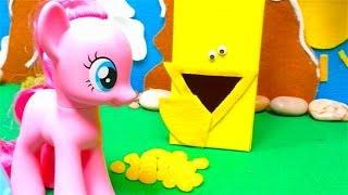 Colors in English - My Little Pony Pinkie Pie toys - Mini Toy Scooters