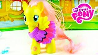 My Little Pony. Toys unboxing. Video for Kids: Fluttershy cottage.
