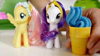 Play Doh and My little Pony. Toys for kids. Play Doh ice cream for little pony Rarity.