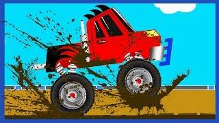 Cartoons about The Monster Truck with Car Service  Car Wash. Cartoon for children | Service Vehicles