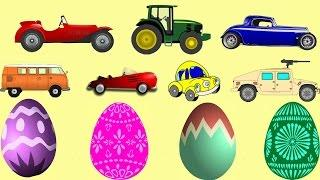 Cars from Suprise Eggs - Cartoon - Cars for Kids