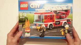 Opening and reviewing LEGO City - Fire Ladder Truck - SET 60107