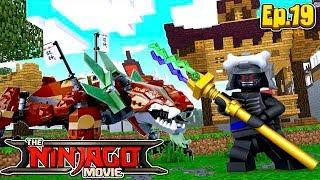 Minecraft LEGO NINJAGO - LORD GARMADON SPAWNS A GRUNDLE TO HUNT THE NINJAGO!!